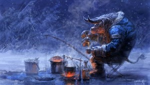 video games winter snow world of warcraft tauren fantasy art fishing artwork yaorenwo 1440x900 wa_wallpaperswa.com_22