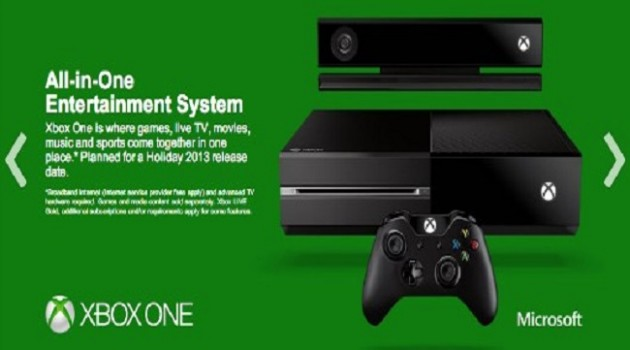 Xbox One site screen