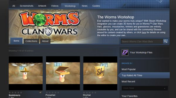 Worms: Clan Wars Steam Workshop screen