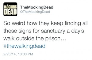 """The Walking Dead, As Told by my Twitter Timeline: """"Claimed"""" Season 4, Episode 11 (NSFW) (10p)"""