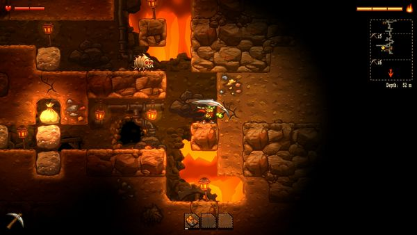 SteamWorld Dig screen
