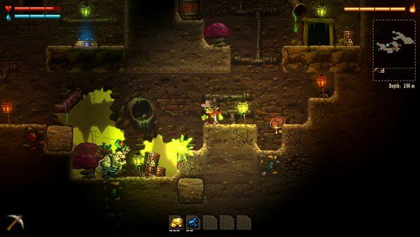 SteamWorld Dig screen