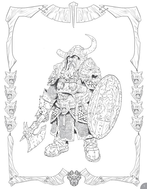 Games Fiends - D&D Monsters and Heroes of the Realms (Coloring Book ...