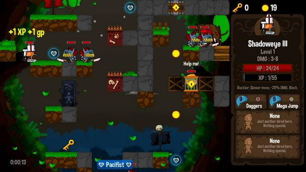 Vertical Drop Heroes HD screen