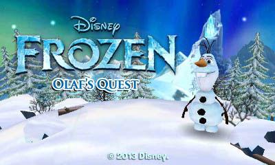 N3DS_FrozenOlafsQuest_titlescreen
